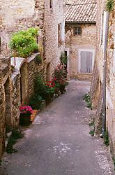 July 21, 2019 - Narrow Street, Grignan, Provence, France (Credit Image: © Bilderbuch/Design Pics via ZUMA Wire)