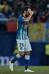 October 20, 2018 - Vila-Real, Castellon, Spain - Juanfran Torres Belen of Atletico de Madrid reacts during the La Liga match between Villarreal CF and Atletico de Madrid at Estadio de la Ceramica on October 20, 2018 in Vila-real, Spain  (Credit Image: © David Aliaga/NurPhoto via ZUMA Press)