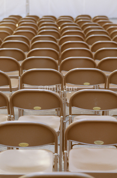 empty row of chairs