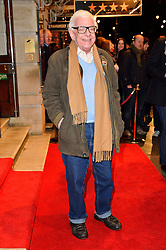 © Licensed to London News Pictures. 16/02/2016. BARRY CRYER arrives for the press night of Mrs Henderson Presents press night at the Noel Coward Theatre. London, UK. Photo credit: Ray Tang/LNP