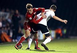 Luke Freeman of Bristol City tackles Kevin McDonald of Fulham - Mandatory by-line: Robbie Stephenson/JMP - 21/09/2016 - FOOTBALL - Craven Cottage - Fulham, England - Fulham v Bristol City - EFL Cup