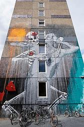 Street art  on  building in Berlin Germany