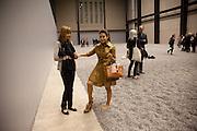 KATIA ZOLOEVA; TATIANA WINDHORST; , Ai Weiwei Unilever series opening. Tate Modern. 11 October 2010. -DO NOT ARCHIVE-© Copyright Photograph by Dafydd Jones. 248 Clapham Rd. London SW9 0PZ. Tel 0207 820 0771. www.dafjones.com.