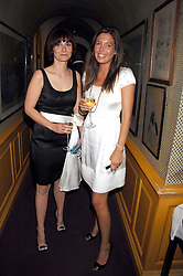 Left to right, IVANA GIACHINO and AMANDA SHEPPARD at a dinner hosted by fashion label Issa at Annabel's, Berekely Square, London on 24th April 2007.<br />