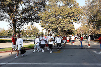 22 August 2007: Head Coach Pete Carroll leads the Trojan Walk in front of his 2007 team players before the USC Trojans NCAA Pac-10 college football team fall intrasquad scrimmage at the LA Memorial Coliseum on Wednesday night infront of 18,000 fans who attended for free.