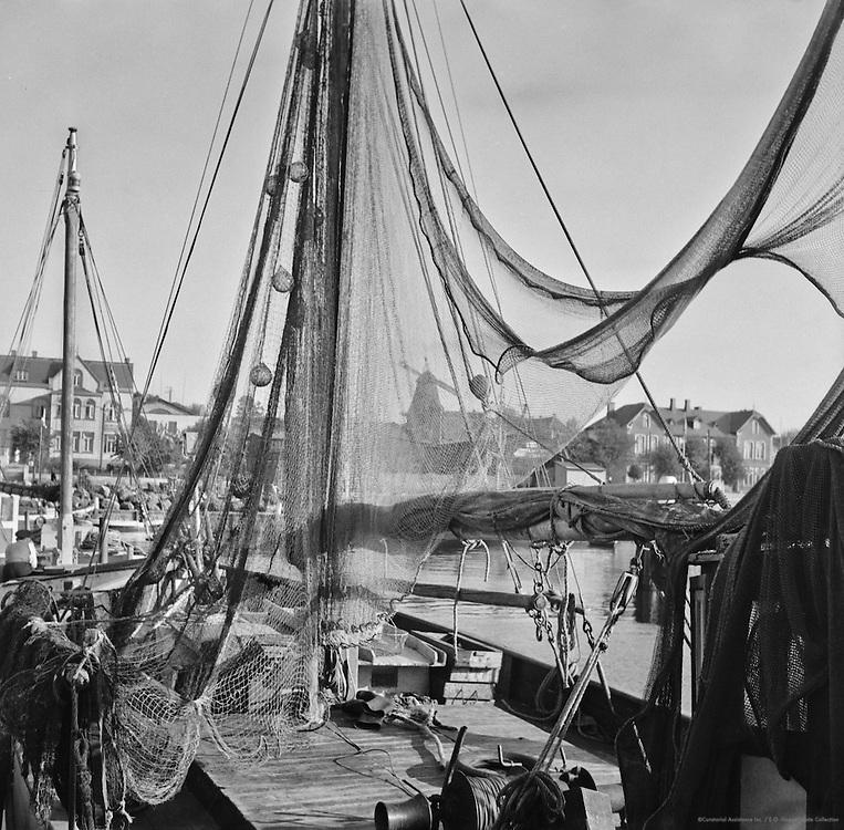 Fishing Harbour, Entrance to Kiel Harbour, Laboe, 1937