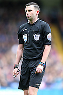 Referee Michael Oliver looks on. Barclays Premier League match, Crystal Palace v Norwich city at Selhurst Park in London on Saturday 9th April 2016. pic by John Patrick Fletcher, Andrew Orchard sports photography.