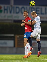 Kim Aabech (Hvidovre IF) og Philip Rejnhold (FC Helsingør) under kampen i 1. Division mellem Hvidovre IF og FC Helsingør den 15. september 2020 på Pro Ventilation Arena, Hvidovre Stadion (Foto: Claus Birch).