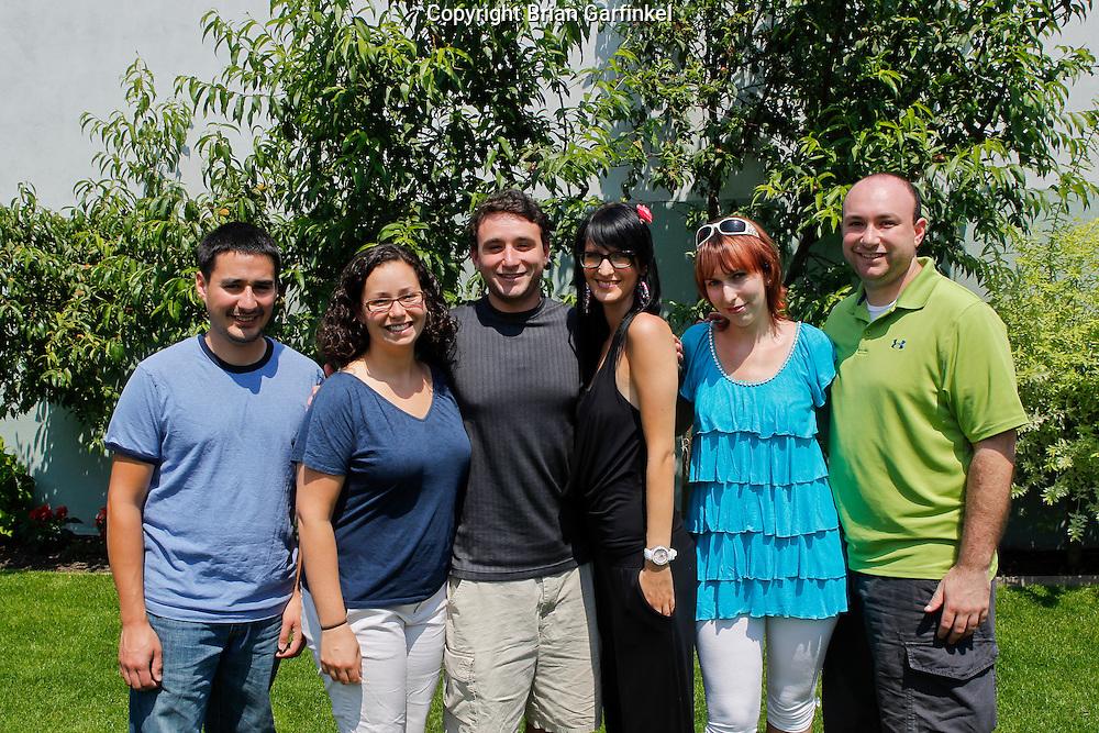 Jesus, Kate, Joel, Eva, Martina and Brian at Peter's house in Zilina, Slovakia on Thursday, July 7th 2011.  (Photo by Brian Garfinkel)