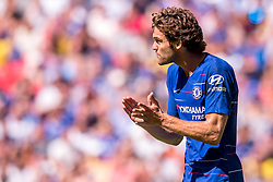 August 5, 2018 - Marcos Alonso of Chelsea during the 2018 FA Community Shield match between Chelsea and Manchester City at Wembley Stadium, London, England on 5 August 2018. (Credit Image: © AFP7 via ZUMA Wire)