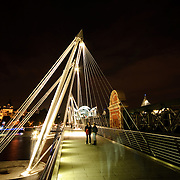 Embankment Bridge over the River Thames near the Millenium Wheel