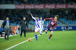 February 28, 2017 - San Sebastian, Spain - Match day of La Liga Santander 2016 - 2017 season between Real Sociedad and S.D Eibar, played Anoeta Stadium on Thuesday, March 28th, 2017. San Sebastian, Spain. 11 Carlos V, 8 Inui. (Credit Image: © Ion Alcoba/VW Pics via ZUMA Wire/ZUMAPRESS.com)