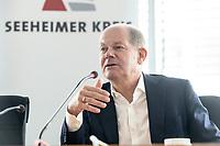 30 AUG 2020, BERLIN/GERMANY:<br /> Olaf Scholz, SPD, Budnesfinanzminister, Klausurtagung des Seeheimer Kreises der SPD, Paul-Loebe-Haus, Deutscher Bundestag<br /> IMAGE: 20200830-01-137