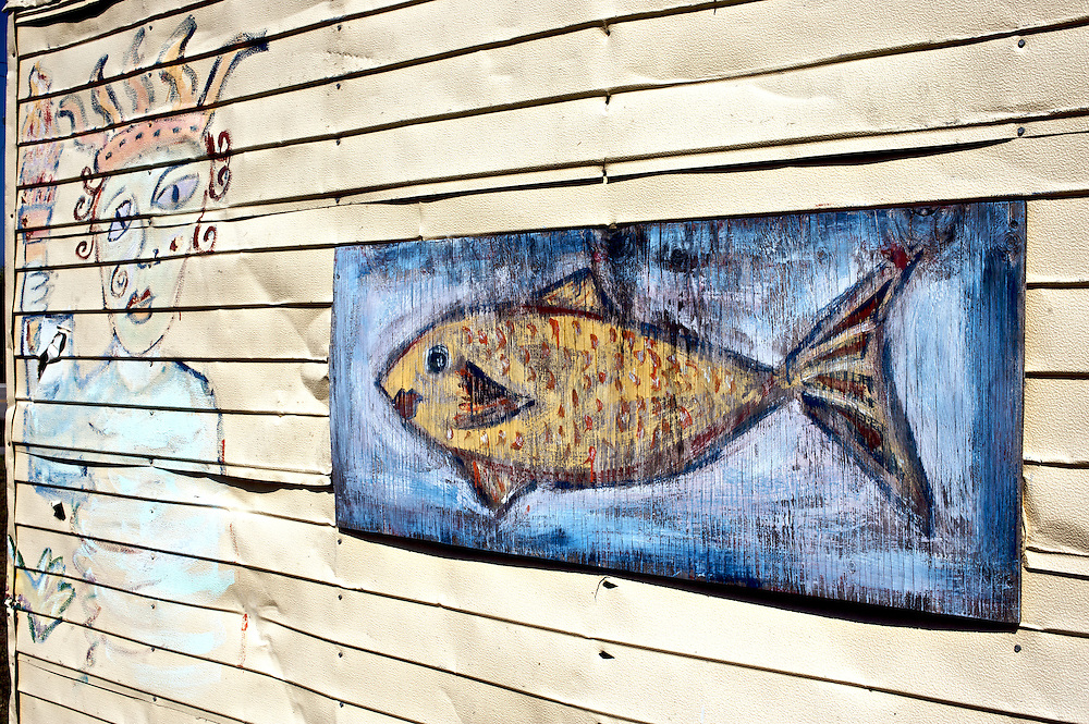 A painting on the side of a shed, Everglades City, FL