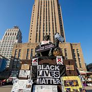Black Lives Matter and Occupy Protests at Kansas City Hall, Kansas City, Missouri, October 2020.