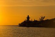 Small lighthouse at sunrise east end of Nassau, Bahamas