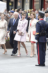 Queen Letizia of Spain, Maria Dolores de Cospedal attended the Armed Forces Day Homage on May 26, 2018 in Logrono, La Rioja, Spain. Photo by Archie Andrews/ABACAPRESS.COM