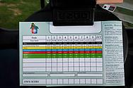 18-09-2015: Golf & Spa Resort Konopiste in Benesov, Tsjechië.<br /> Foto: Scorekaart