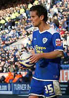 Photo: Steve Bond/Richard Lane Photography. <br />Leicester City v Hull City. Coca Cola Championship. 21/03/2008. Lee Hendrie tries to speed up Hull