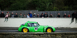 © Licensed to London News Pictures. <br /> 10/09/2017 <br /> Saltburn by the Sea, UK.  <br /> <br /> Spectators watch as vintage and classic cars are driven up the hill during the annual Saltburn by the Sea Historic Gathering and Hill Climb event. Organised by Middlesbrough and District Motor Club the event brings together owners of a wide range of classic cars and motorcycles dating from the early 1900's to 1975. Participants take part in a hill climb to test their machines up a steep hill near the town. Once held as a competitive gathering a change in road regulations forced the hill climb to become a non-competitive event.<br /> <br /> Photo credit: Ian Forsyth/LNP