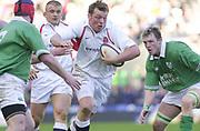 Twickenham. Surrey, UK., 16th February 2002, Six Nations International Rugby,  RFU Stadium, England vs Ireland,  [Mandatory Credit: Peter Spurrier/Intersport Images],<br /> <br /> The Lloyds TSB Six Nations Championship<br /> England v Ireland<br /> RFU - Twickenham<br /> 16/02/2002<br /> Steve Thompson, on the charge<br /> <br /> <br /> <br />  <br /> <br /> <br /> <br /> <br /> <br /> <br /> <br /> <br /> <br /> <br /> Salesi Finau