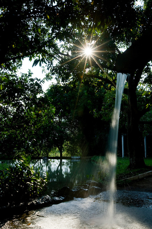 Uberlandia_MG, Brasil...Fonte de agua no Parque do Sabia em Uberlandia...The water fountain in Sabia Park in Uberlandia...Foto: BRUNO MAGALHAES /  NITRO