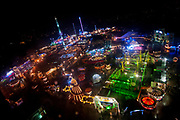 A view from the top of the panoramic wheel of the 'Winter Wonderland' attraction in Hyde Park on January, 2016 in London, England. The temporary, festive theme park runs for over six weeks around Christmas and features an ice rink, several large rides and numerous food and gift stalls.