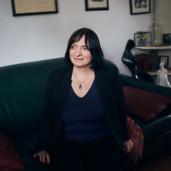 Muriel Salmona, psychanalyst, in her living room. Bourg-la-Reine, France. January 28, 2021.<br /> Muriel Salmona, psychanalyste, dans son salon. Bourg-la-Reine, France. 28 janvier 2021.