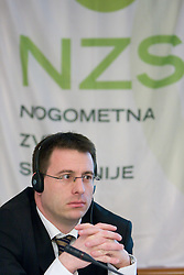 Ales Zavrl of NZS at Management conference of Slovenian Football Federation, on March 10, 2009, in Hotel Kokra, Brdo pri Kranju, Slovenia. (Photo by Vid Ponikvar / Sportida)