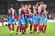 Scunthorpe United celebrate goal scored by Scunthorpe United midfielder Ryan Colclough (49) to go 2-0 during the EFL Sky Bet League 1 match between Scunthorpe United and Rochdale at Glanford Park, Scunthorpe, England on 8 September 2018. Photo Ian Lyall