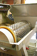destemming machine with lid opened clos st louis fixin cote de nuits burgundy france