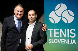 Marko Umberger, former president and Andrej Slapar, new president during General Assembly of Slovenian Tennis Federation, on December 12, 2018 in Kristalna palaca, Ljubljana, Slovenia. Photo by Vid Ponikvar / Sportida