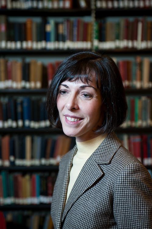 A portrait of the Boston Anthenaeum's new director Dr. Lizzie Barker.