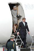 Staatsbezoek Denemarken - Dag 1. Aankomst van het Koninklijk gezelschap op vliegveld Kastrup<br /> <br /> State visit Denmark - Day 1. Arrival of the Royal Family at Kastrup airport<br /> <br /> op de foto / On the photo:  Koning Willem-Alexander en Koningin Maxima / King Willem-Alexander and Queen Maxima