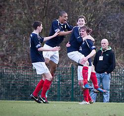 Falkirk's Blair Alston celebrates after scoring their first goal..Hamilton 1 v 2 Falkirk, Scottish Cup quarter-final, Saturday, 2nd March 2013..©Michael Schofield.