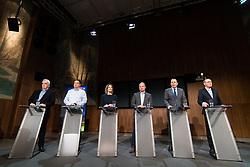 """20.03.2019, Radio Kulturhaus, Wien, AUT, Ö1, Sendung """"Klartext"""" zur Europawahl 2019, im Bild die Spitzenkandidaten zur Europawahl Johannes Voggenhuber (Liste Jetzt), Werner Kogler (Grüne), Claudia Gamon (NEOS), Andreas Schieder (SPÖ), Harald Vilimsky (FPÖ) und Othmar Karas (ÖVP) // during political discussion of the Austrian Broadcasting Corporation according to EU elections 2019 in Vienna, Austria on 2019/03/20, EXPA Pictures © 2019, PhotoCredit: EXPA/ Michael Gruber"""