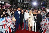 David Walliams, Anthony McPartlin, Simon Cowell, Amanda Holden, Alesha Dixon, Declan Donnelly, Britain's Got Talent - London photocall, London Palladium, London UK, 29 January 2017, photo by Richard Goldschmidt