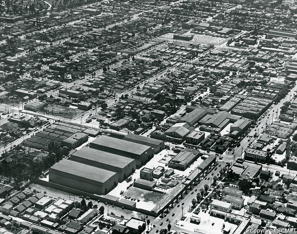 1927 Aerial of William Fox Studios in Hollywood