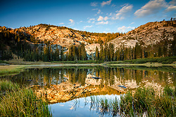 """""""Mud Lake Morning 1"""" - Photograph shot in the early morning of Mud Lake in California's Plumas National Forest."""