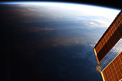 May 21, 2019, Earth Atmosphere: NASA astronaut Christina Hammock Koch posted this image of Earth taken from aboard the International Space Station. She said: 'A couple times a year, theInternational Space Stationorbit happens to align over the day/night shadow line on Earth. We are continuously in sunlight, never passing into Earth's shadow from the Sun, and the Earth below us is always in dawn or dusk. Beautiful time to cloud watch. (Credit Image: © NASA/ZUMA Wire/ZUMAPRESS.com)