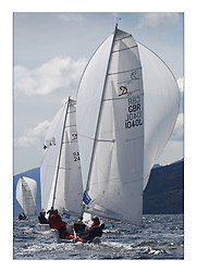 Sailing - The 2007 Bell Lawrie Scottish Series hosted by the Clyde Cruising Club, Tarbert, Loch Fyne..The final days racing had cold steady Northerly breeze to decide the overall placings..Jock Blair with Delphia Racer a new Delphia 24 Sportsboat racing in Sportsboat one.