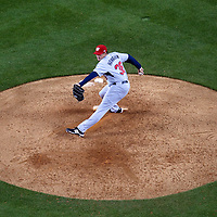 22 March 2009: #38 Joel Hanrahan of USA pitches against Japan during the 2009 World Baseball Classic semifinal game at Dodger Stadium in Los Angeles, California, USA. Japan wins 9-4 over Team USA.