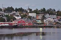 Lunenburg waterfront at dusk, Nova Scotia