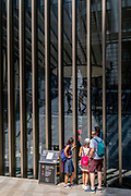 A family admire an art instillation, part of the annual 'Art in the City' project, on 21st July 2021, in the City of London, England.