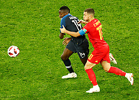 SAINT PETERSBURG, RUSSIA - JULY 10: Blaise Matuidi (L) of France national team and Eden Hazard of Belgium national team vie for the ball during the 2018 FIFA World Cup Russia Semi Final match between France and Belgium at Saint Petersburg Stadium on July 10, 2018 in Saint Petersburg, Russia. MB Media
