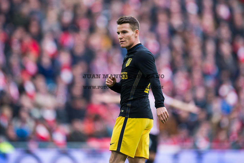BILBAO, SPAIN - JANUARY 22:  Kevin Gameiro of Atletico Madrid reacts during the La Liga match between Athletic Club Bilbao and Atletico Madrid at San Mames Stadium on January 22, 2017 in Bilbao, Spain.  (Photo by Juan Manuel Serrano Arce/Getty Images)