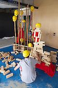 Linz, Austria. HÖHENRAUSCH.3<br /> Die Kunst der Türme (The Art of Towers)<br /> Turmbaustelle (make your own tower)