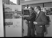"""20/06/1979.06/20/1979.20th June 1979.An exhibition of photographs presented by the Norwegian Foreign Ministry as a gift to the Department of Architecture, Bolton Street, Dublin entitled """"New Architecture from Norway"""" opened at the Kilkenny Design Shop, Nassau Street. Picture shows Mr Ragnvald Bing Lorentsen, (left) President of the Norwegian Architects League showing part of the exhibition to Mr John J O'Keeffe, Head of the Department of Architecture."""