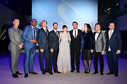 The cast of (left-right) Ben Mendelsohn, Forest Whitaker, Mads Mikkelsen, Riz Ahmed, Felicity Jones, Diego Luna, Producer Kathleen Kennedy, Donnie Yen and Director Gareth Edwards attending the premiere of Rogue One: A Star Wars Story at the Tate Modern, London. PRESS ASSOCIATION Photo. Picture date: Tuesday December 13, 2016. See PA story SHOWBIZ Rogue One. Photo credit should read: Ian West/PA Wire