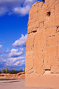 Afternoon light on the northwest corner of Casa Grande Ruins, Casa Grande Ruins National Monument